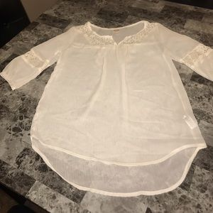Sheer Lace Boho Blouse